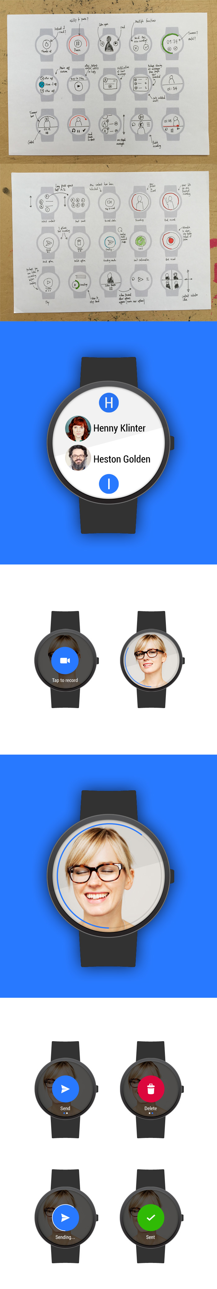 UI development for watch product